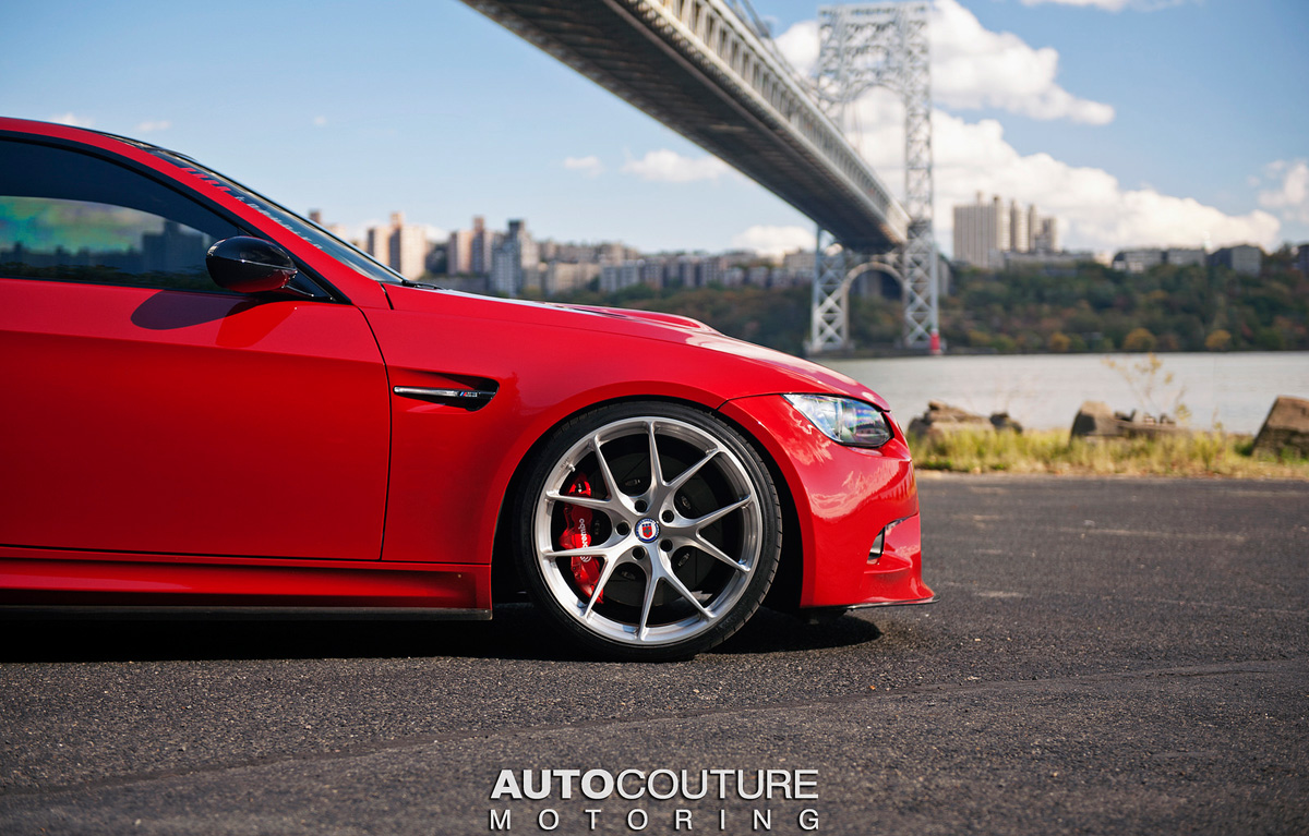 Red BMW E92 M3 with HRE Wheels | DamnedWerk