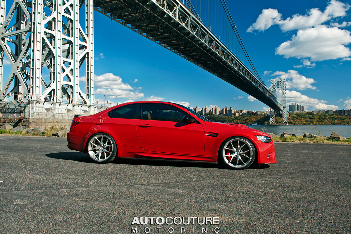 Red Bmw E92 M3 With Hre Wheels Damnedwerk