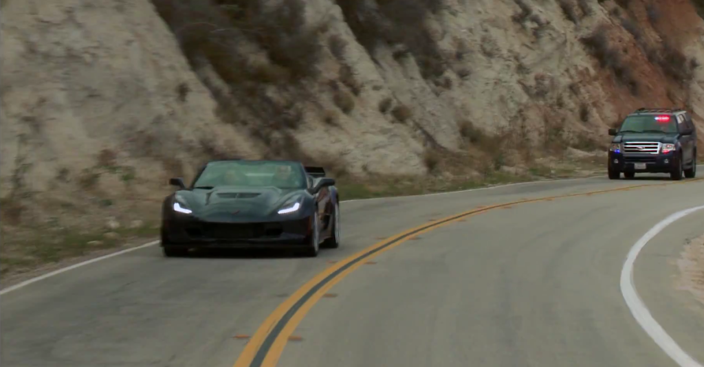 2015 Corvette Z06 jay leno chased by police