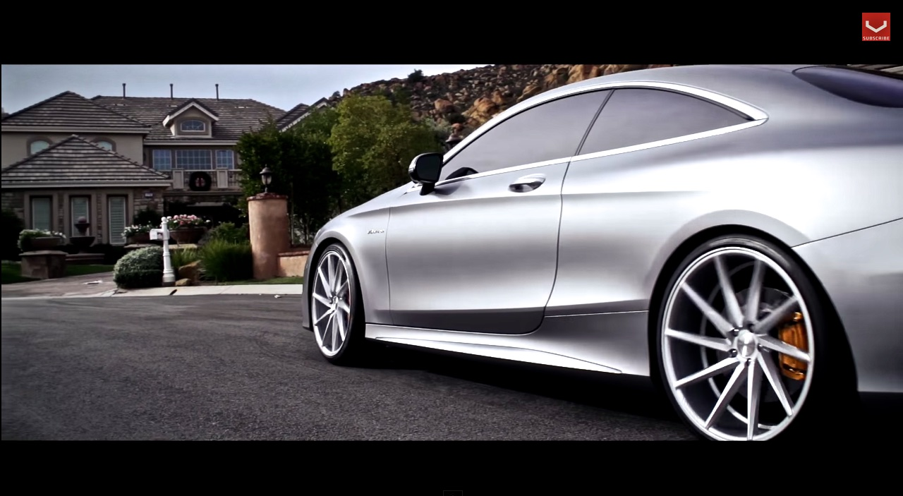2015 Mercedes S63 Amg Coupe Show Off With Vossen 22 Inch