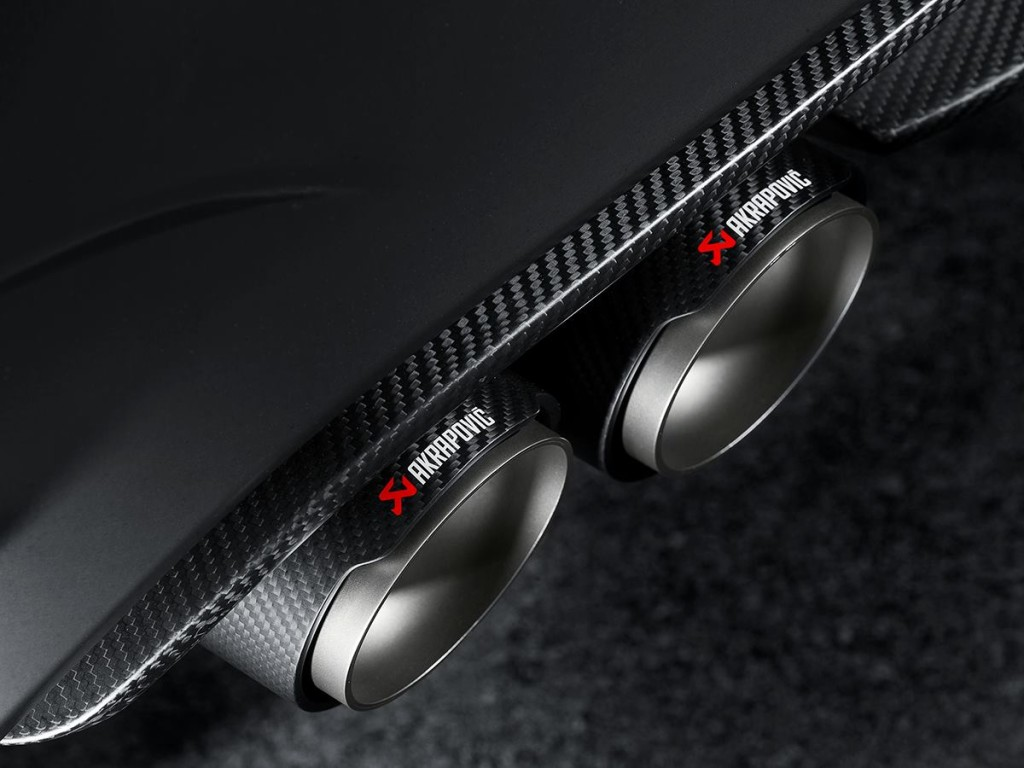 BMW M4 Akrapovic Exhaust Tail Pipes