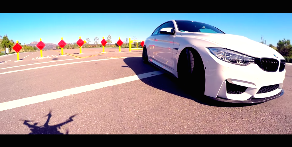 BMW M4 KW V3 Capture With Drone Side View