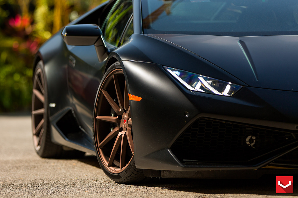 Vossen Wheels For Matte Black Lamborghini Huracan Damnedwerk