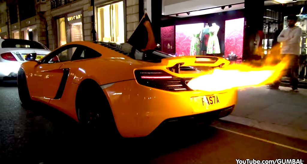 McLaren 12C Shooting Huge Flames 01