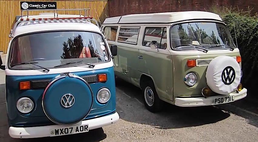 2007 Volkswagen T2 Camper Van Driving Experience 2 vans