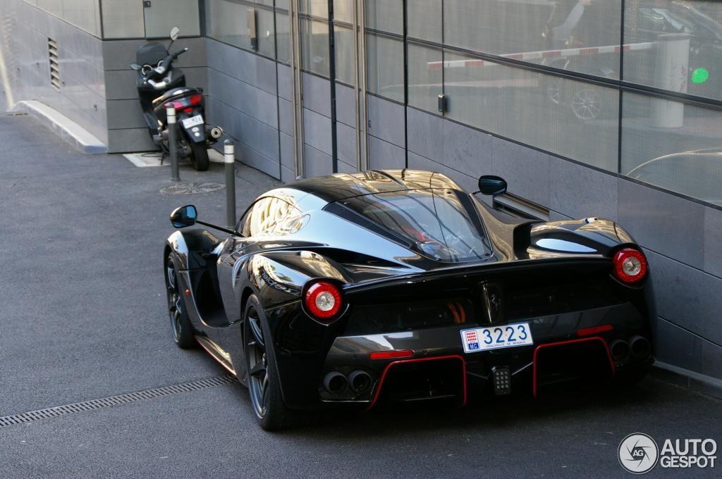 Felipe Massa black LaFerrari rear side