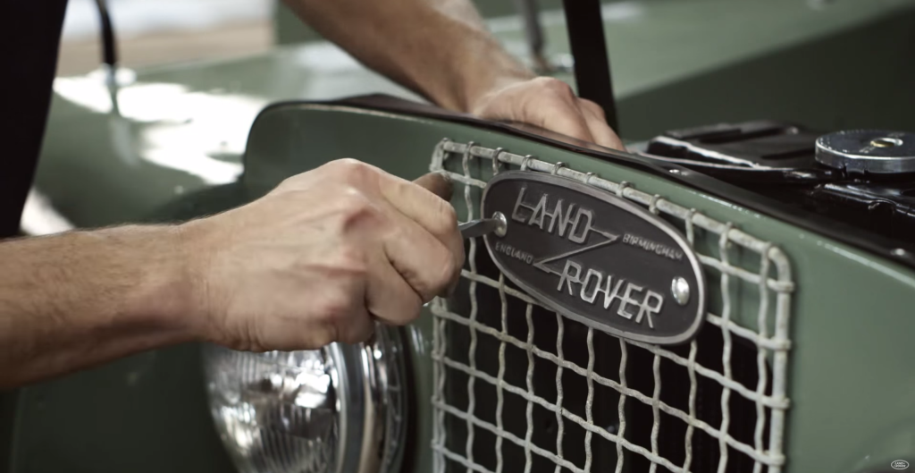 Land Rover Surprised The Owner With Fully Restored 1957 Series 1 Land Rover Badge