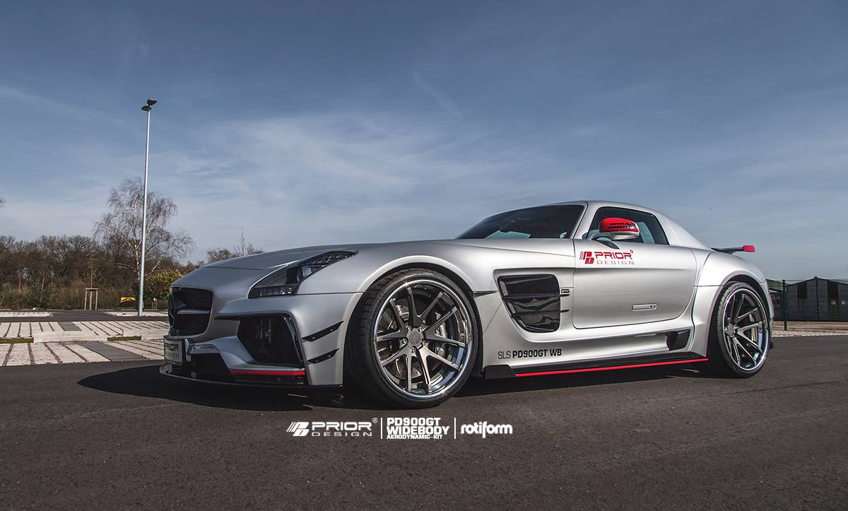 2015 mercedes sls amg wide body by prior design. Black Bedroom Furniture Sets. Home Design Ideas