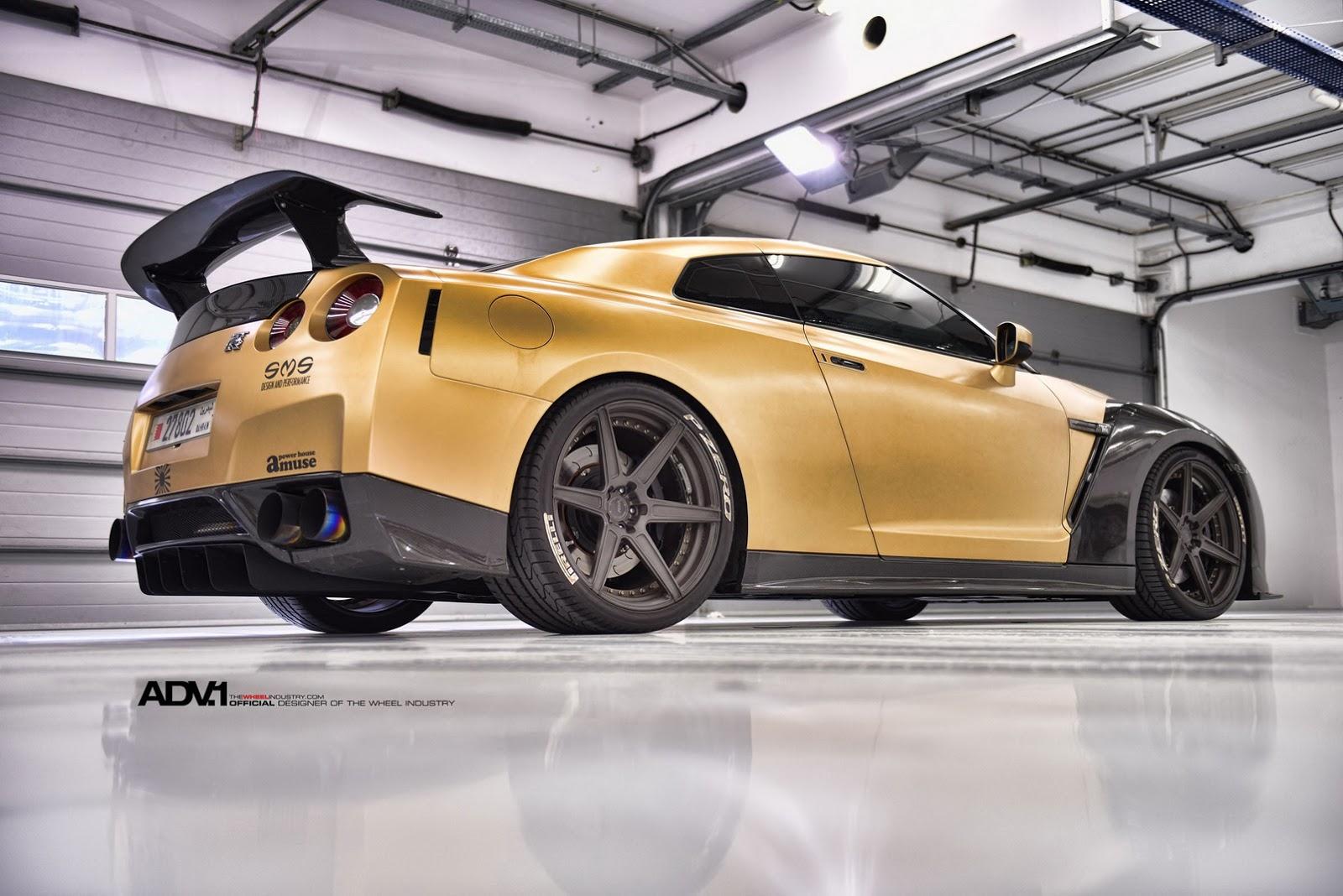 Gold Carbon Nissan Gtr R35 By Ams Performance Damnedwerk