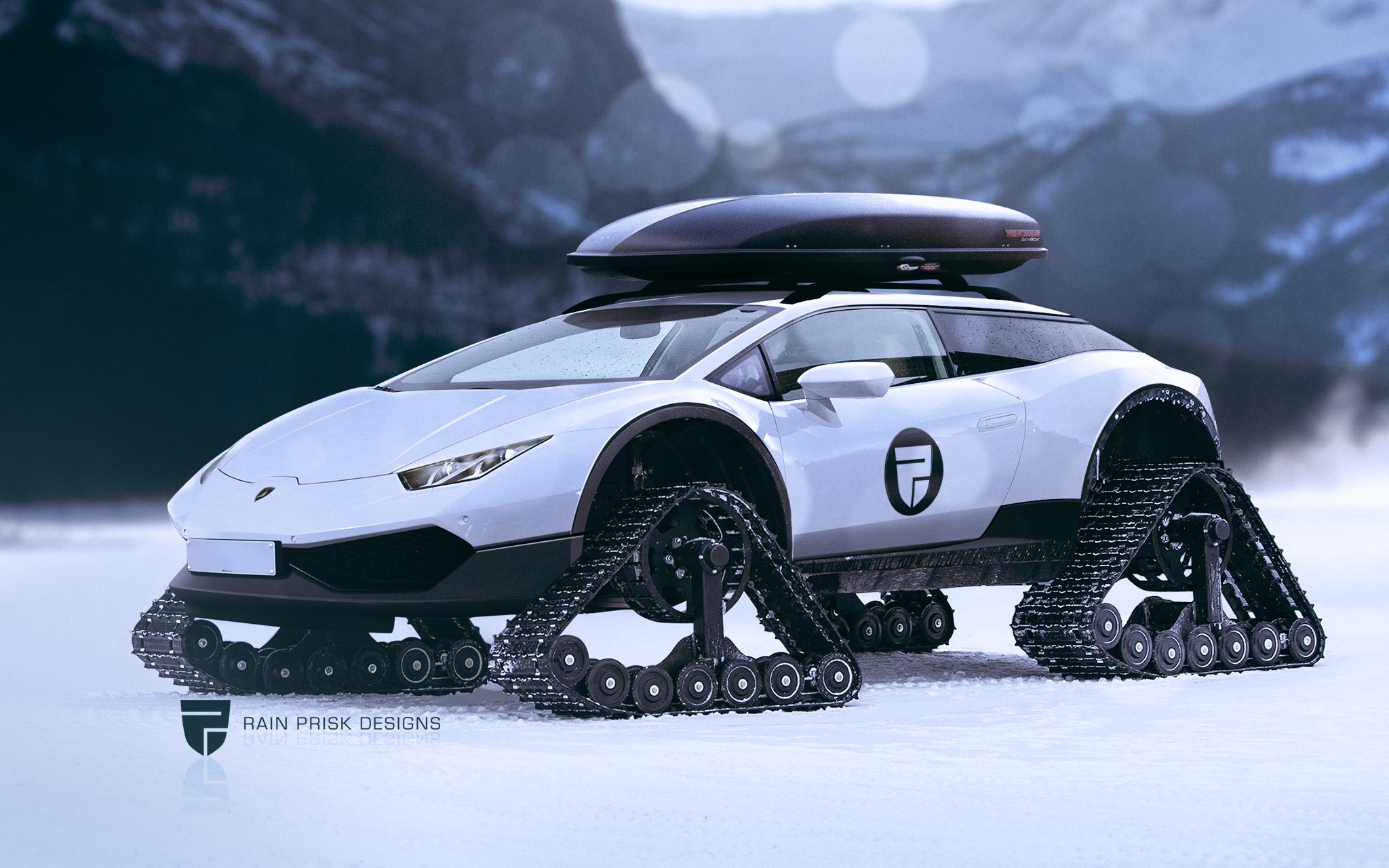 Lamborghini Huracan Shooting Brake With Rubber Tracks