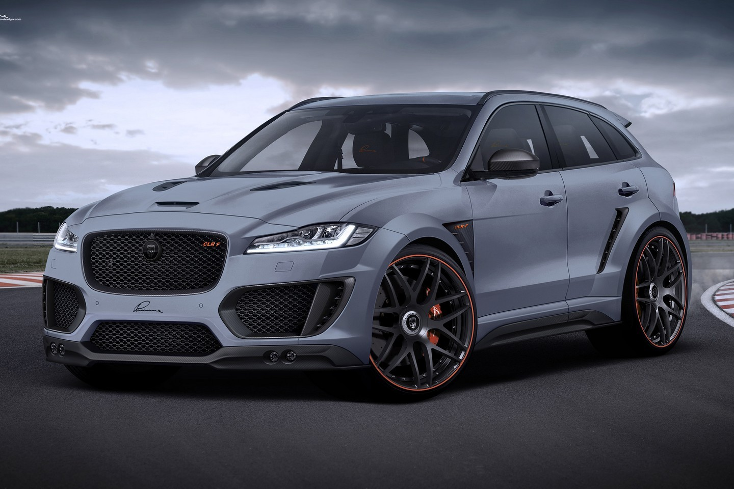 jaguar f pace looks stronger with wide body kits from lumma damnedwerk. Black Bedroom Furniture Sets. Home Design Ideas