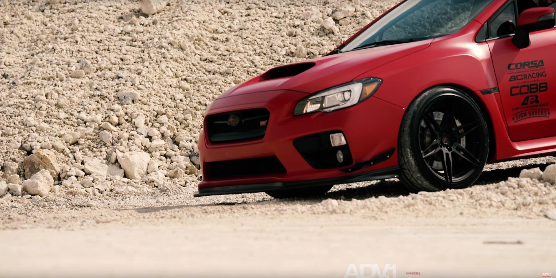 Subaru Aftermarket Parts >> Matte Red Subaru WRX STI With ADV.1 Wheels | DamnedWerk