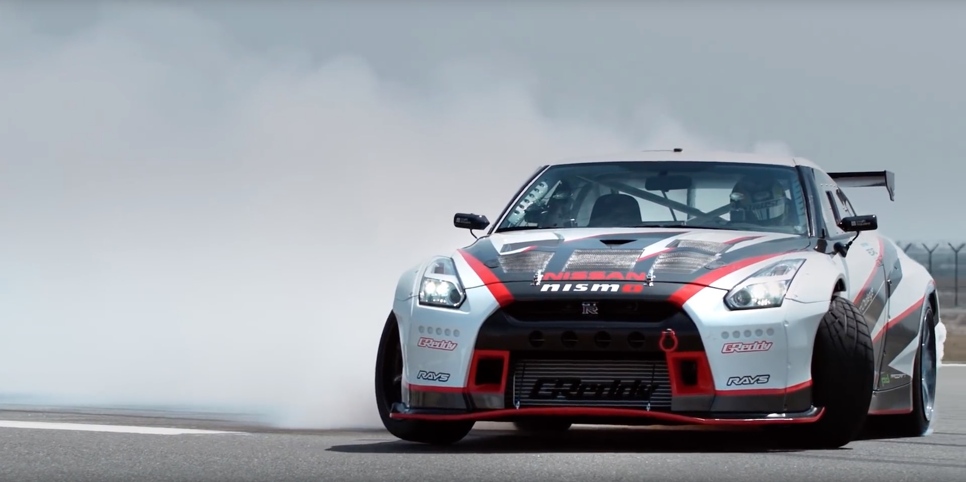 special tuned nissan gt r set new world record for fastest drift challenged damnedwerk. Black Bedroom Furniture Sets. Home Design Ideas