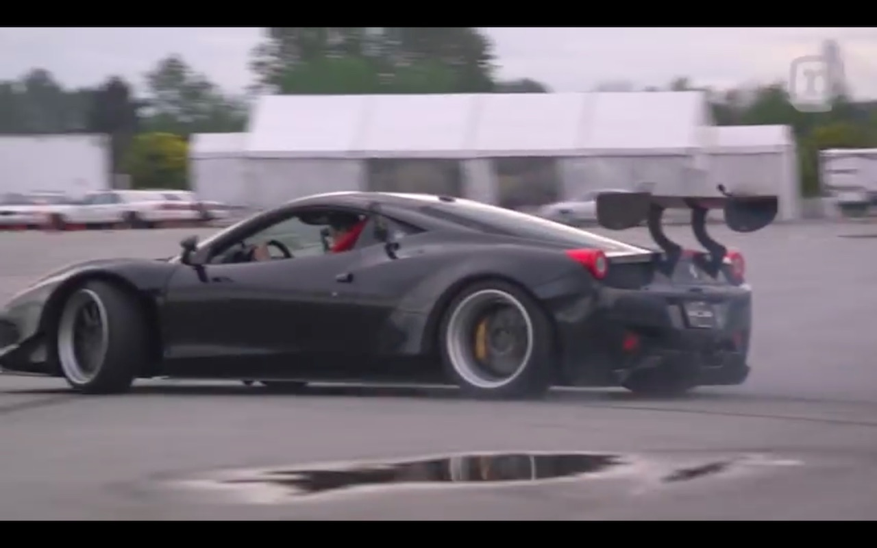 Ferrari 458 drifting
