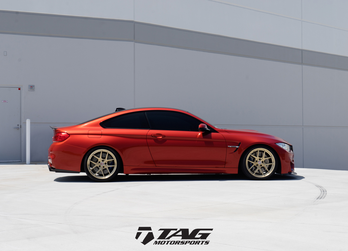 Sakhir-Orange-BMW-M4-with-HRE-R101-Wheels-in-Brushed-Gold-10