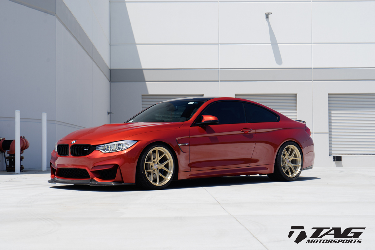 Sakhir-Orange-BMW-M4-with-HRE-R101-Wheels-in-Brushed-Gold-7