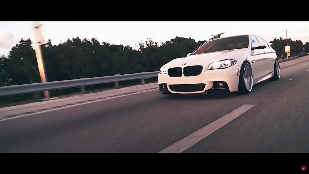Ferrada Wheels Showcase FR4 Machine Silver On BMW 550i - 4
