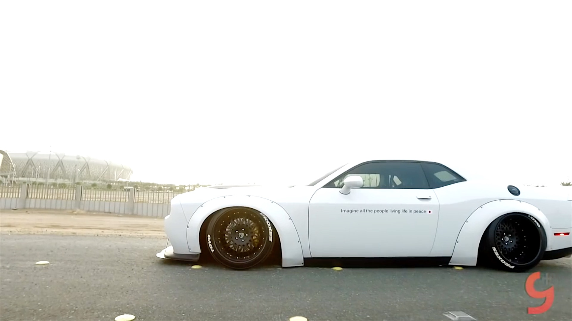 Liberty Walk Challenger Srt8 From Saudi Arabia Damnedwerk