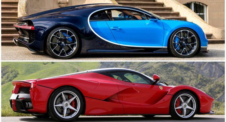Revving And Exhaust Sound From Bugatti Chiron Ferrari Laferrari