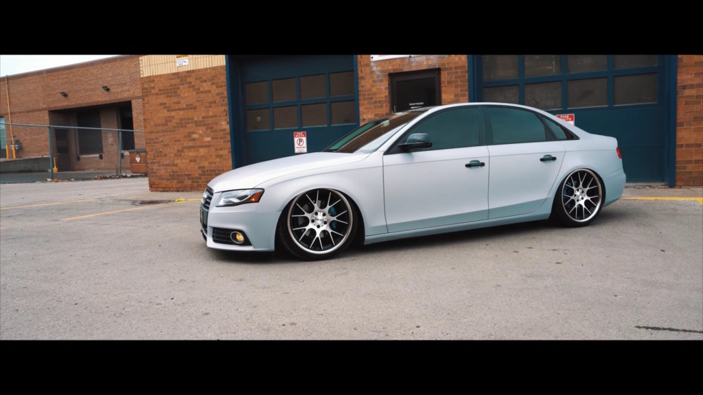 audi a4 with vossen wheels and air lift air suspension damnedwerk. Black Bedroom Furniture Sets. Home Design Ideas