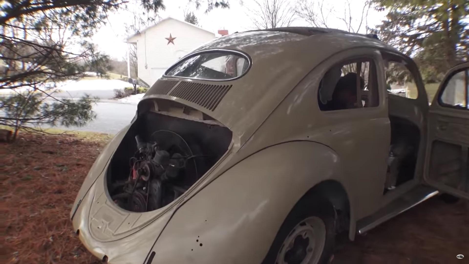 Garage find 1954 oval window volkswagen beetle damnedwerk for Garage volkswagen paris 10
