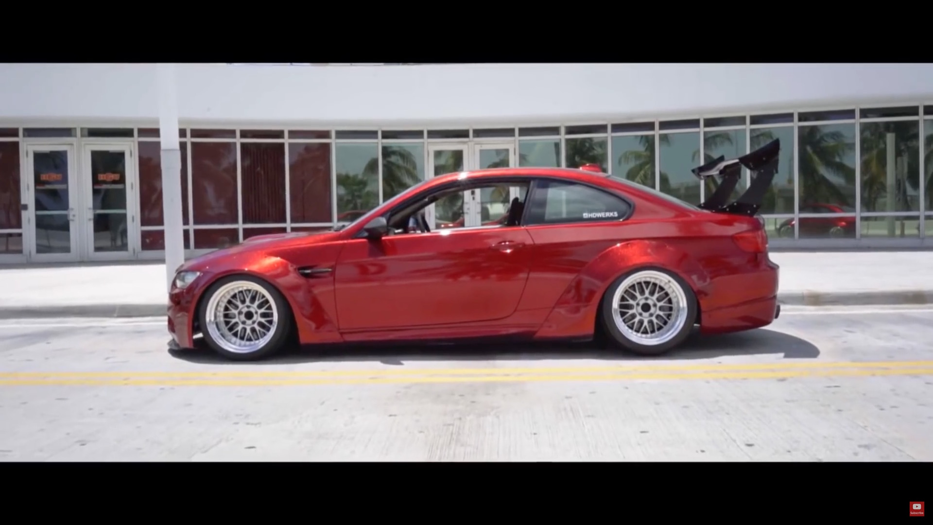 A Red Bmw M3 E92 With Liberty Walk Wide Body Kit Damnedwerk