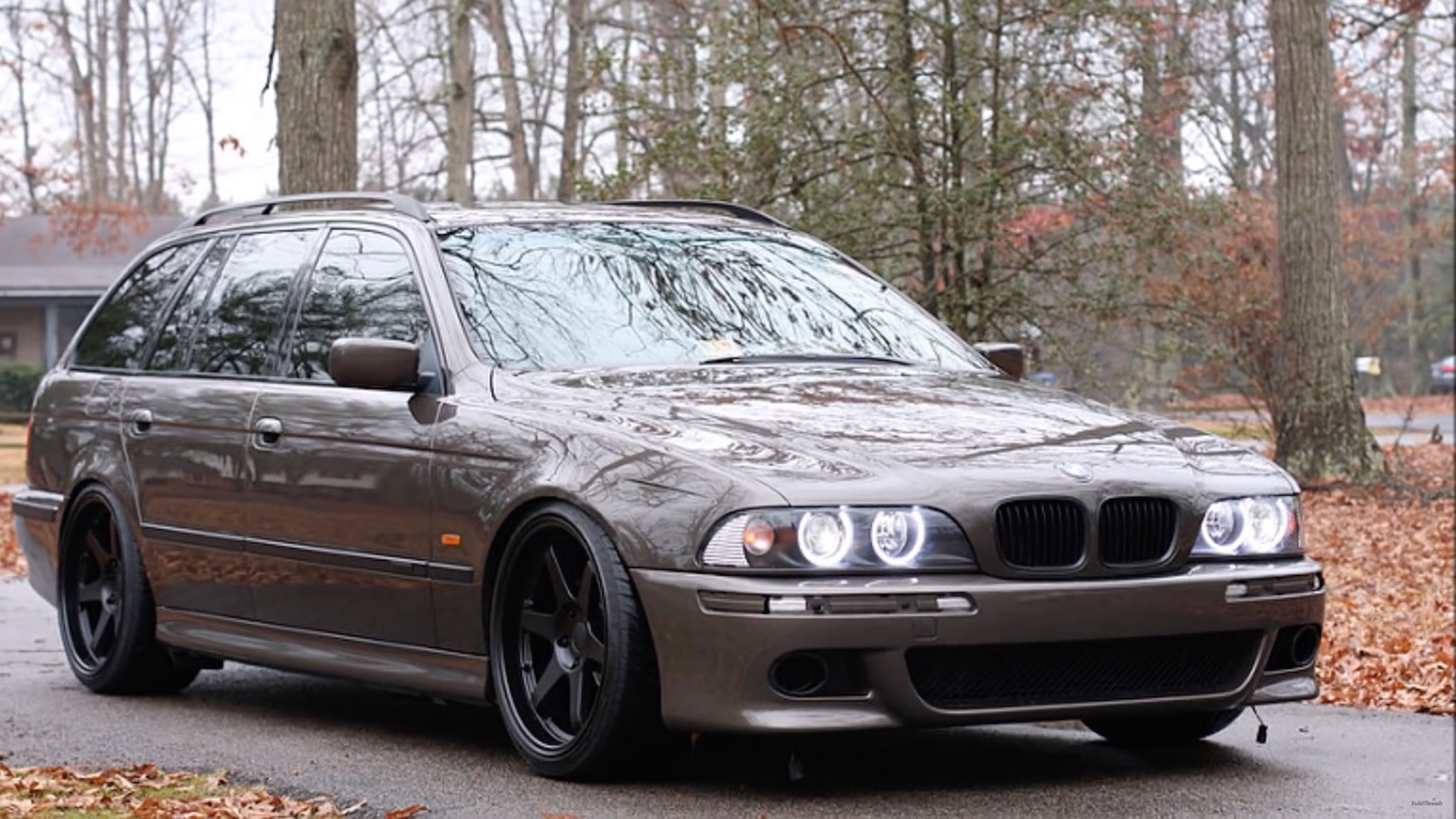 a restomod video showing a bmw e39 touring with a new ls7 engine from general motor damnedwerk. Black Bedroom Furniture Sets. Home Design Ideas