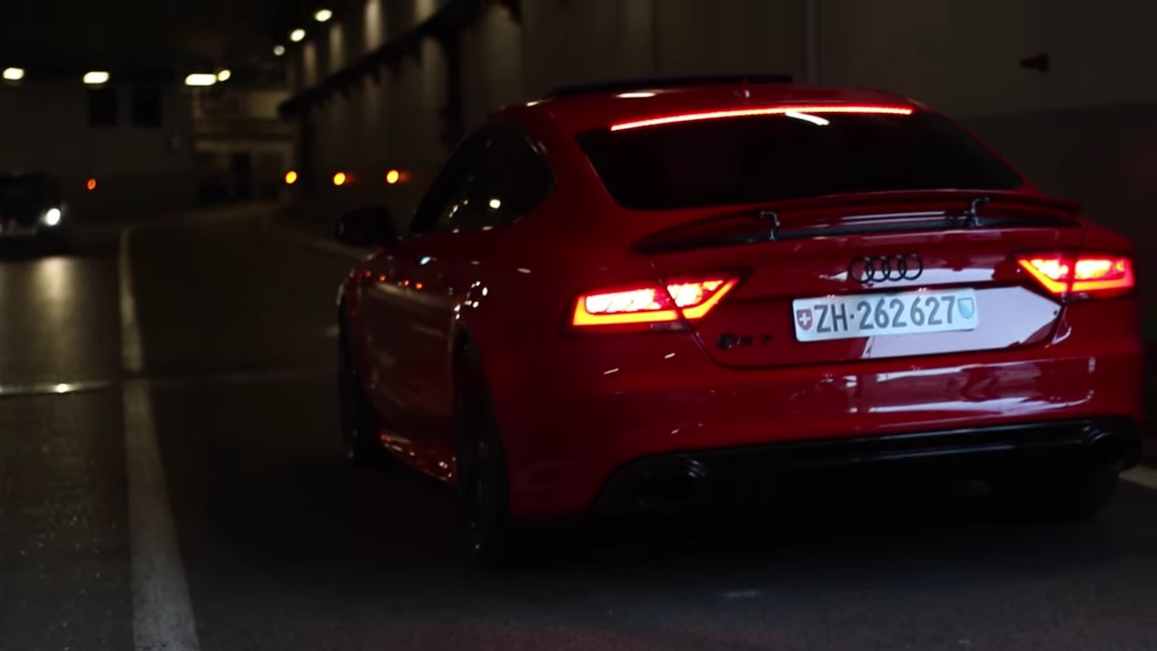 An Extremely Loud Audi Rs7 In Monaco Damnedwerk